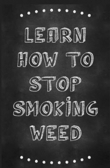 How To Stop Smoking Weed Chalkboard